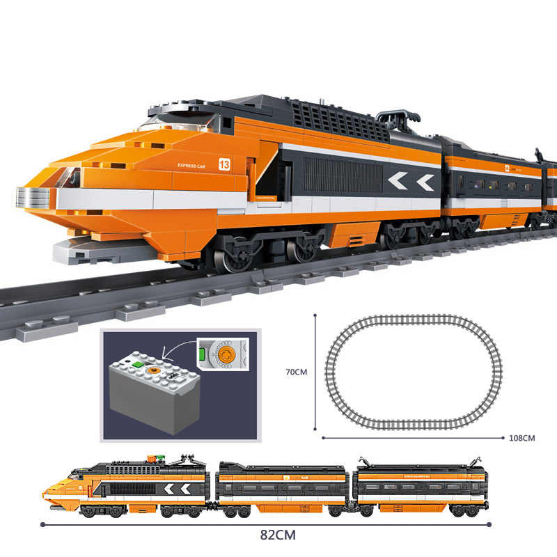 2019 جديد Legoes مدينة قطار الطاقة يحركها الديزل القطار البضائع مع المسارات مجموعة نموذج تكنيك ألعاب مكعبات البناء للأطفال