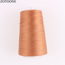ZOTOONE 3000Yards 20S/3 Spool Sewing Thread Machine Yarn For Jeans Polyester Leather Thighs Accessory D
