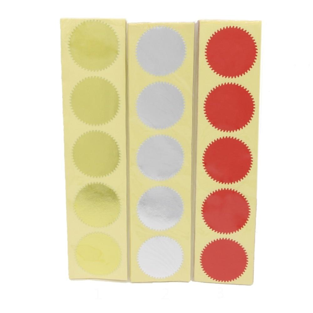 100Pcs 45mm Embosser Sticker For Embossing Stamp ,Customize Embosser Seal ,Diy Embossing Seal For Card,University Certificate