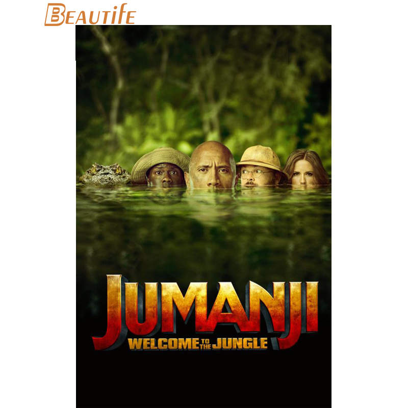 Hot Sale Custom Jumanji: Welcome to the Jungle Poster Home Decoration Fashion Silk Fabric Wall Poster Custom Poster