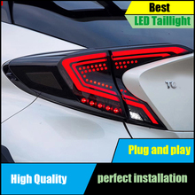 For Toyota C-HR CHR 2016 2017 2018 2019 LED Tail Light Assembly DRL+Dynamic Turn Signal+Brake+Reverse taillight Rear Lamp Light free shipping china vland factory led taillight for toyota vios 2008 2012 tail lamp drl brake light plug and play