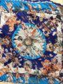 Alta qualidade marca europa e américa mito sarja de seda lenço de cortina xaile lenço para mulheres H159142