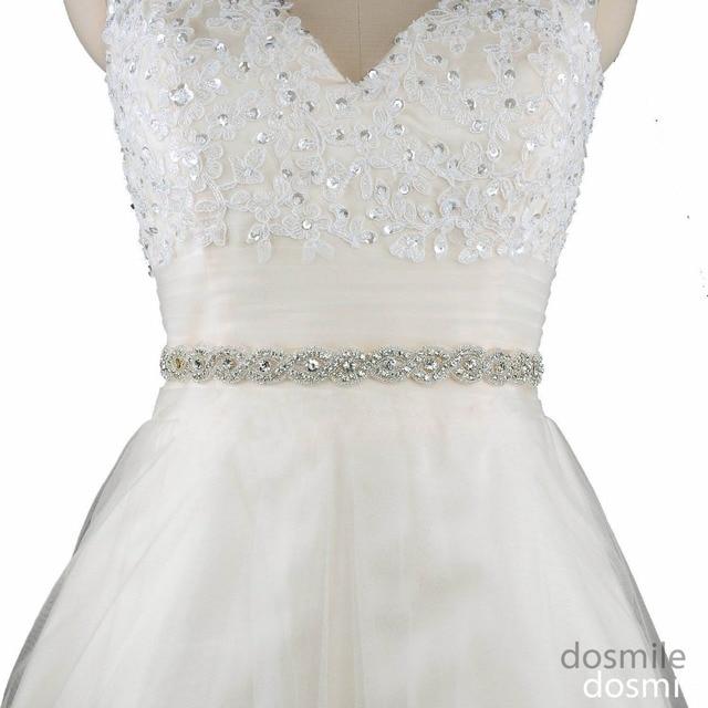 2016 Women's Shiny Beaded Bridal Sash Wedding Belts with Crystal