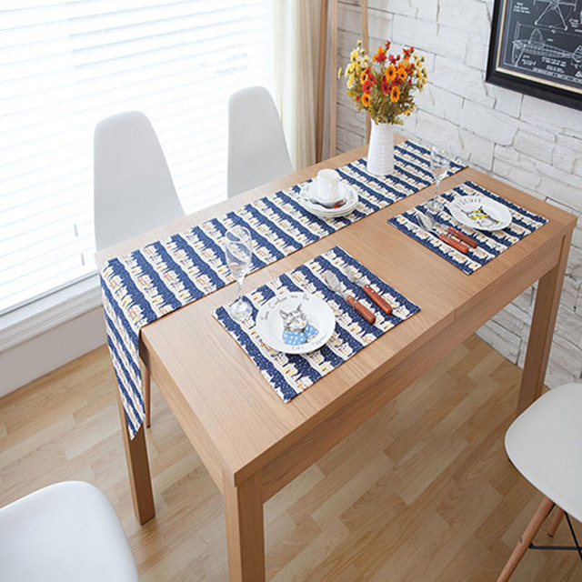nordic dining table dining room nordic dining pads table runner striped flags runners modern simplicity cloth home