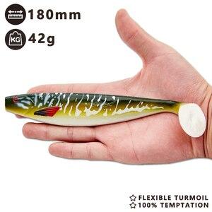 Image 2 - HUNTHOUSE big soft fishing lure teeze pro shad lure 120 150 180mm berserk sea fishing  bass decoy for fishing pike zander