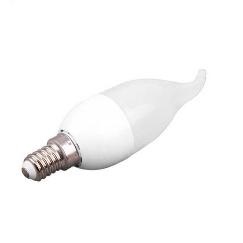10Pcs LED Candle Bulb SMD2835 Chandelier E14 LED Bulb AC110V 220V LED Lamp 5W 7W Energy Saving For Bedroom Living Room Lighting