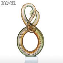 Tooarts Surround Figurine Glass Figurine Home Decor Animal Ornament Favor Gift Glass Craft Decoration For Home Office
