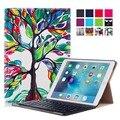 Горячая Продажа Для Apple iPad Pro 9.7 Магнит Флип PU Leather Case With Bluetooth Keyboard Case Живопись Tablet Смарт Тонкий крышка