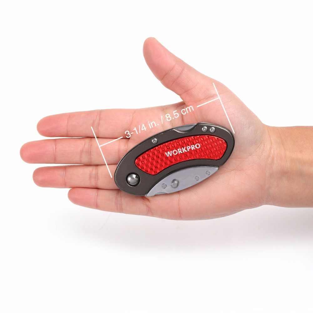 WORKPRO шт. 3 шт. Мини ножи универсальный нож алюминиевая ручка складной с шт. 10 шт. дополнительные лезвия
