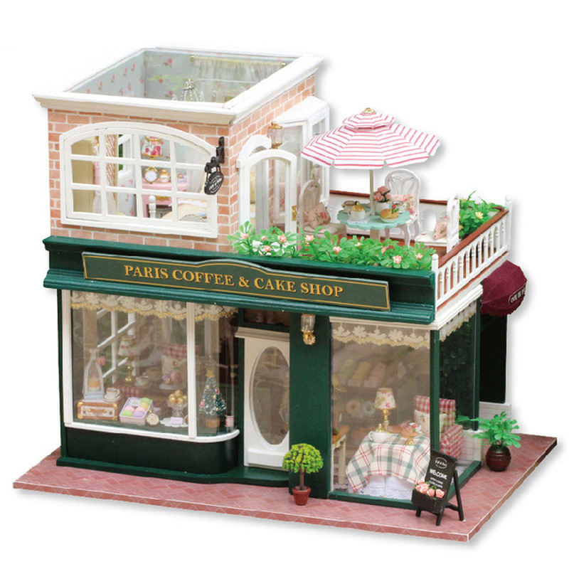 3D миниатюрный кукольный домик ручной сборки архитектурный Diy кукольный домик деревянная мебель игрушечные дома для детей подарок для взрос...