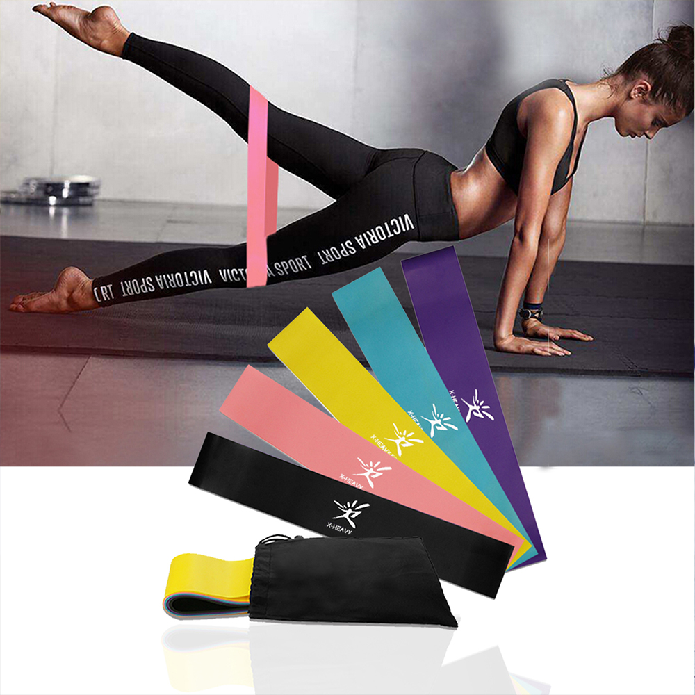 Exercise Elastic Fitness Train Yoga Resistance Loop Band Workout Pull Rope lot
