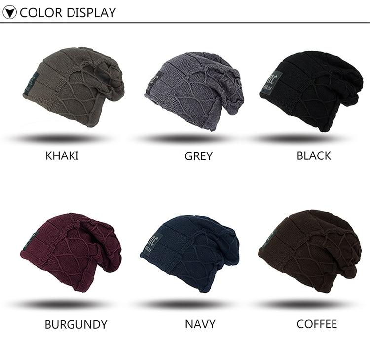 Super fresco cráneo patrón sombreros para hombres gorros de lana de ...