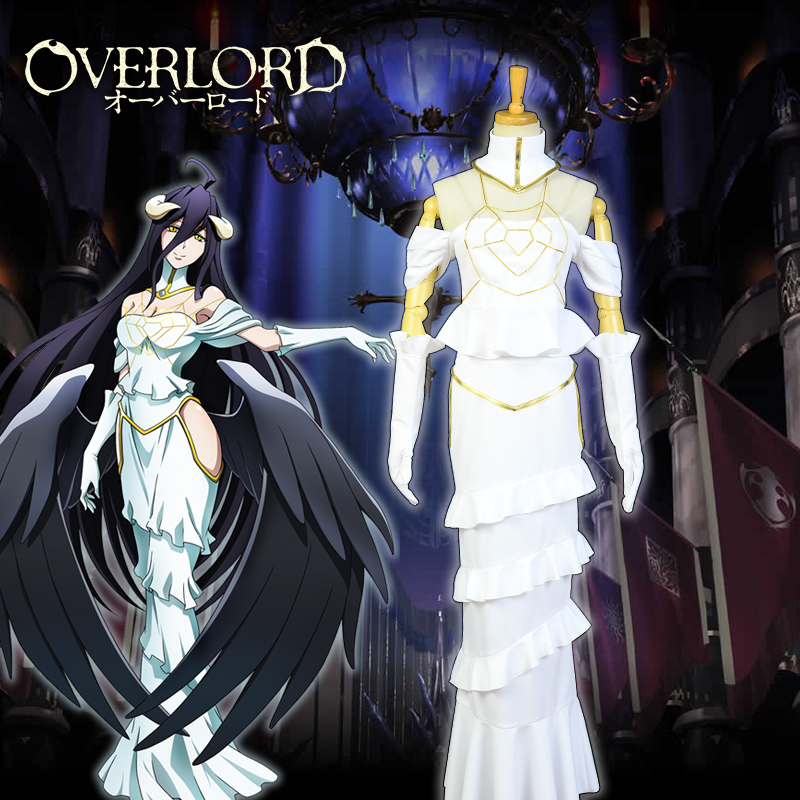 Japanese Anime Overlord 3 Albedo Dress Women Cosplay Costumes Sexy Queen Dresses Sets