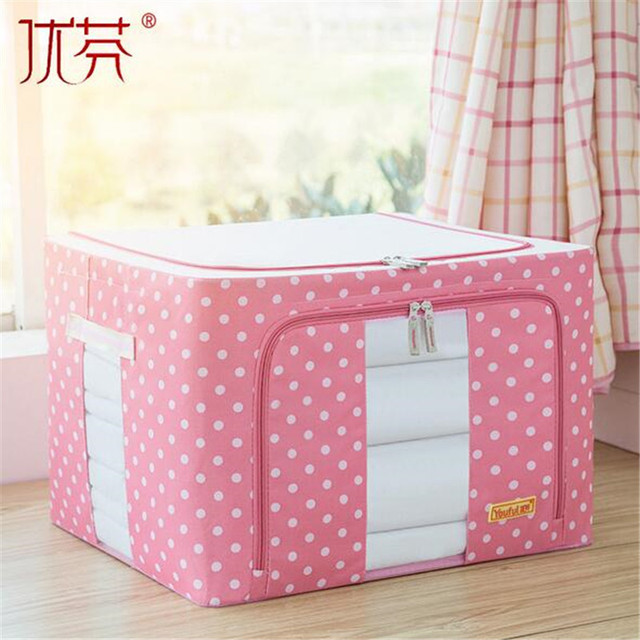 You fen Oxford cloth steel frame storage box covered with large 24L toy storage box clothing & You fen Oxford cloth steel frame storage box covered with large 24L ...