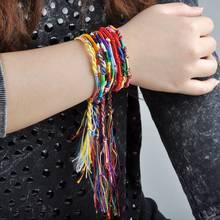 50pcs Wholesae BULK jewelry lots Colorful Braid Friendship Cords Strand Bracelet[B609M*50]