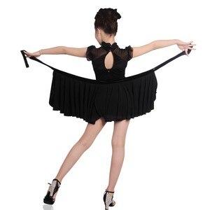 Image 5 - Girls Dance Dresses Child Dance Costume Salsa Tango Dress Mesh Sexy Dress For Ballroom Dance