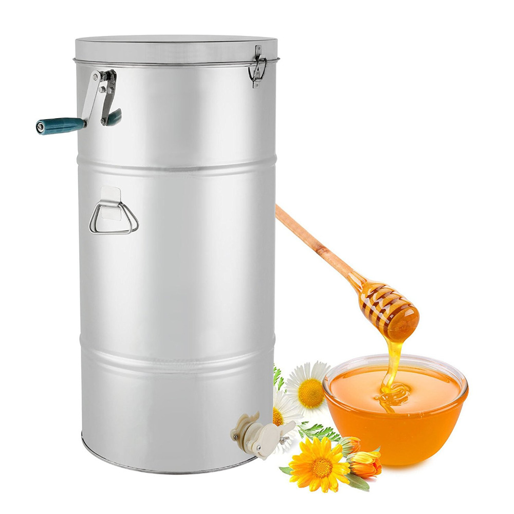 2 FrameHoney Extractor Stainless Steel Manual With Cover & Honey Outlet