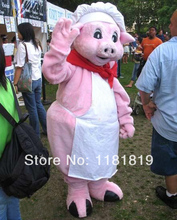 MASCOT Pink Pig Chef mascot costume custom fancy costume anime cosplay kits mascotte fancy dress carnival costume