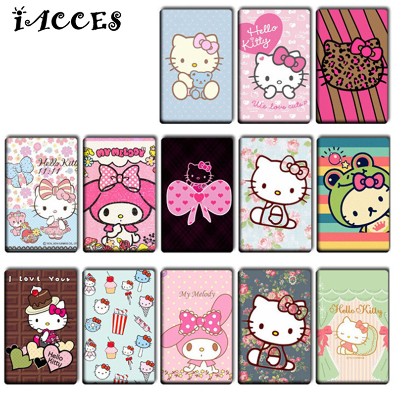 10 pcslot hello kitty diy stickers toys lovely cartoon kt cat kids classic toys