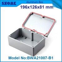 10 unidades herramientas e instrumentos electrónicos fuente de alimentación caja de aluminio carcasa de material y estuche estanco al agua 81 (H) x126 (W) x196 (L) mm