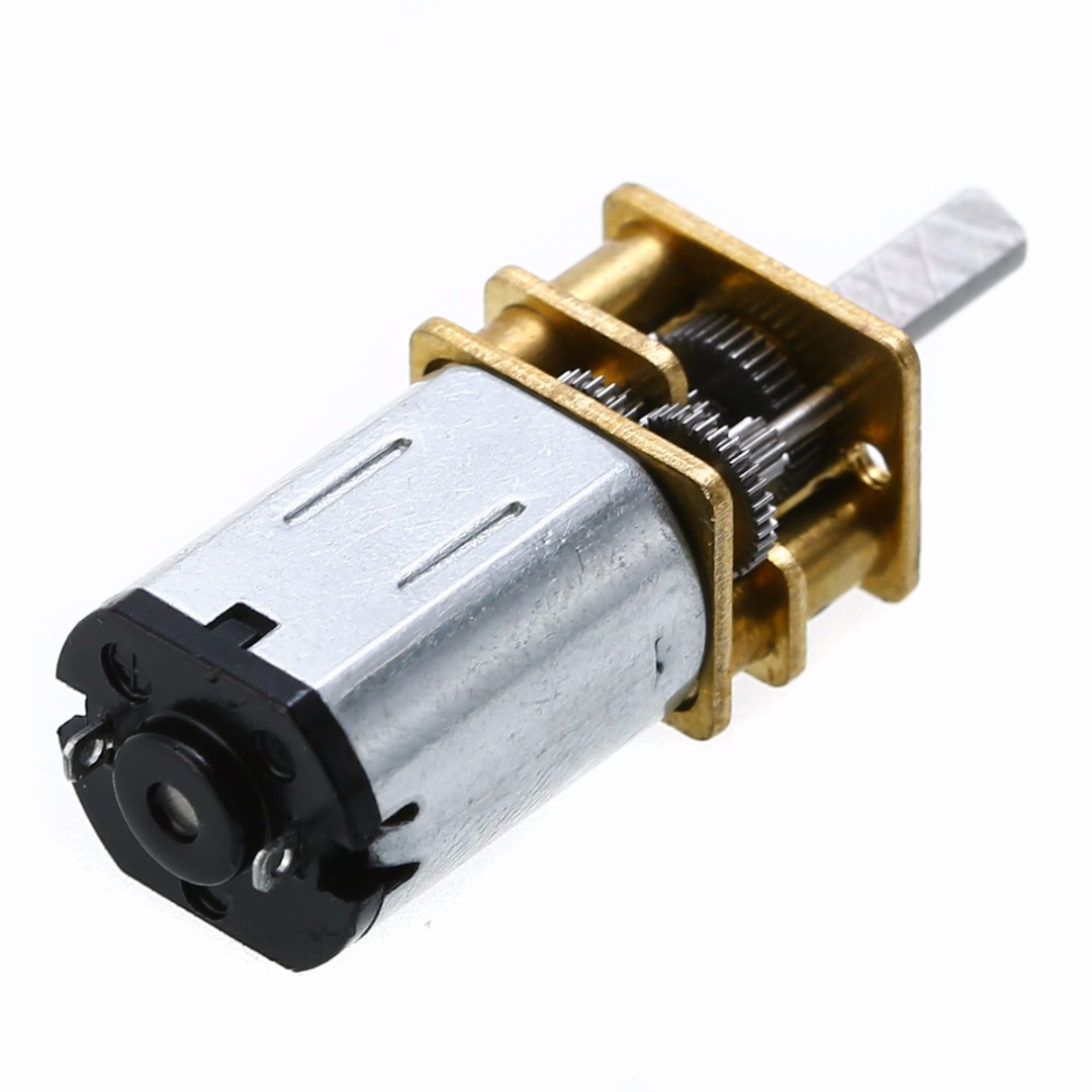 DC  N20 3mm Shaft Diameter Mini Metal Gear Motor with Gearwheel 12V 100RPM  High Torque