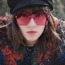 PAWXFB DESIGN Fashion Ladies Rimless Sun glasses 2019 Women Sunglasses Vintage High quality Frame Classic Brand Designer Shades