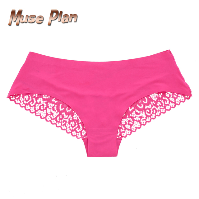Women's sexy lace panties seamless cotton breathable panty