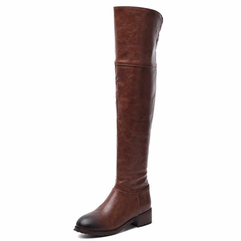 FEDONAS Kaliteli Mikrofiber Deri Kadınlar Diz Çizmeler Üzerinde 2020 Sonbahar Kış sıcak Uzun Çizmeler parti ayakkabıları Kadın binici çizmeleri