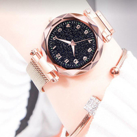 Luxe Lichtgevende Vrouwen Horloges Sterrenhemel Magnetische Vrouwelijke Horloge Waterdicht Strass Klok relogio feminino montre femme