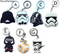 Fancy&Fantasy Classic Star Wars Keychain Cute Action Figure  Storm Trooper Darth Vader Car Motorcycle Key Ring Holder ZDSW