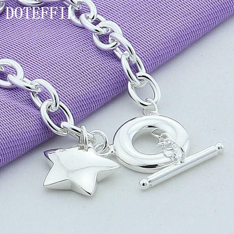 New 925 Silver Color Jewelry Bead Bracelet Stars Pendant Bracelets For Women Fashion 925 Silver Color Bracelets Fine Jewelry