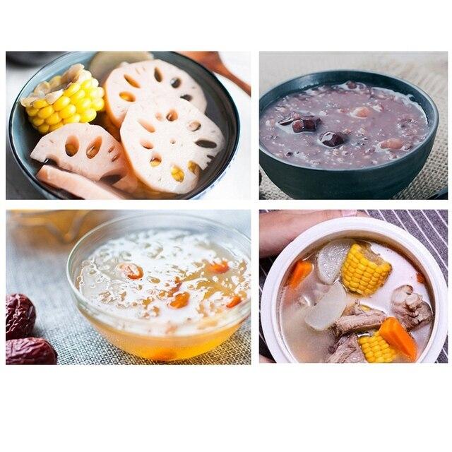 DMWD 1.6L Mini Automatic Electric Stewing Pot Soup Porridge Cooker Ceramic Water Partition 3 Cores 7 Menus 12H Appointment 220V 3