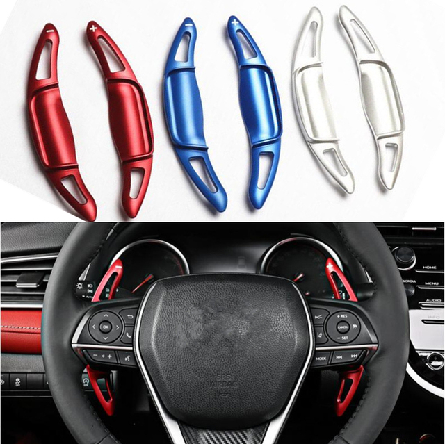 Car Steering Wheel Dsg Paddle Extension Shifters For Toyota Camry 2018 2019 Aluminium Alloy