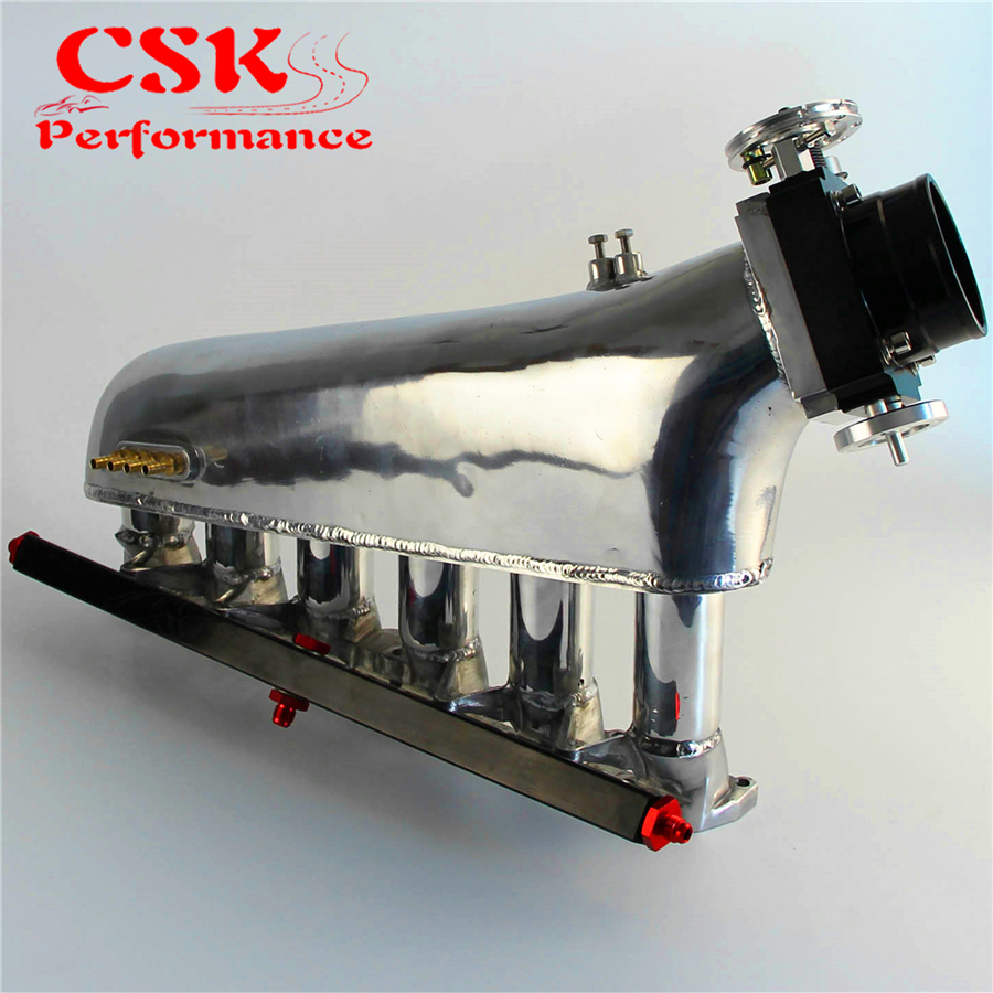 Intake Manifold w/Throttle body Fuel Rail Kit Fits For <font><b>BMW</b></font> E30 <font><b>M20</b></font> 320i / 325i 87-91 image