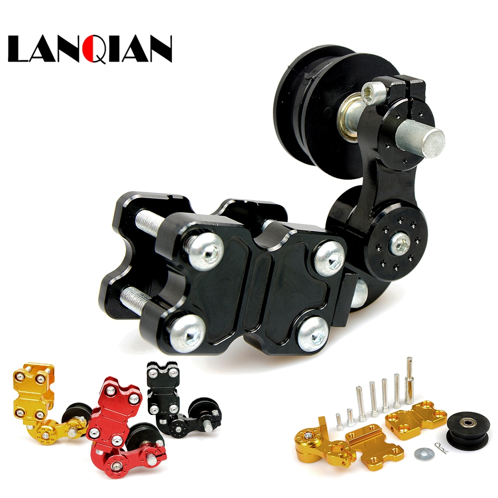 optional Motorcycle refires pieces motorcycle chain auto tensioner rubber chain tensioner Aluminum alloy super gold