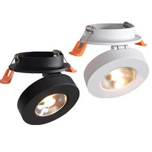 Thrisdar Rotatable Mini Recessed COB LED Downlight 3W 5W 7W Bedroom Kitchen Adjustable Ceiling Lamps Spot Light