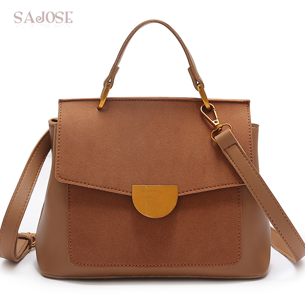 Leather Bags Women Famous Brands Fashion Vintage Simple Fema