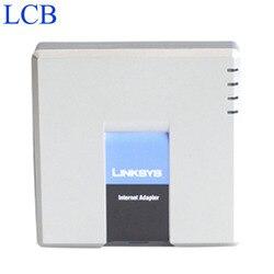 Desbloqueado linksys pap2t PAP2-NA/pap2 sip ip voip adaptador de telefone 2 portas de telefone fxs pap2t sistema de servidor de telefone 5 pçs/lote navio livre