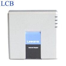 סמארטפון Linksys PAP2T PAP2 NA/PAP2 SIP IP VOIP טלפון מתאם 2 FXS טלפון יציאות PAP2T טלפון שרת מערכת 5 יח\חבילה משלוח ספינה