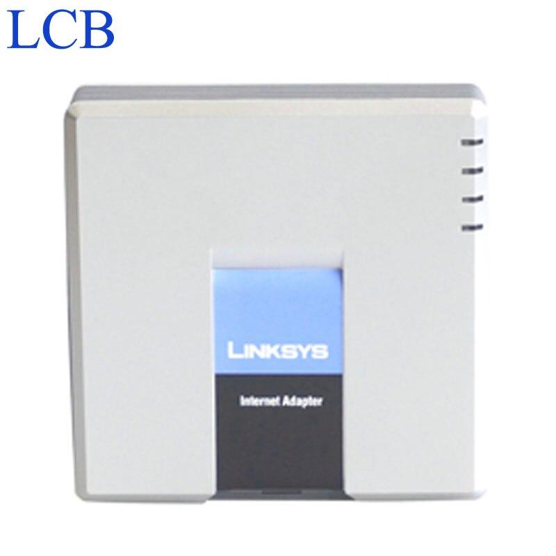Linksys PAP2T débloqué PAP2-NA/PAP2 SIP IP adaptateur de téléphone VOIP 2 FXS Ports de téléphone système de serveur de téléphone PAP2T 5 pcs/Lot livraison gratuite