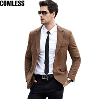 2017 New Winter Wool Casual Suit Men High Quality Fashion Blazer Masculino Slim Fit Blazer Men British Latest Coat Clothing XXXL