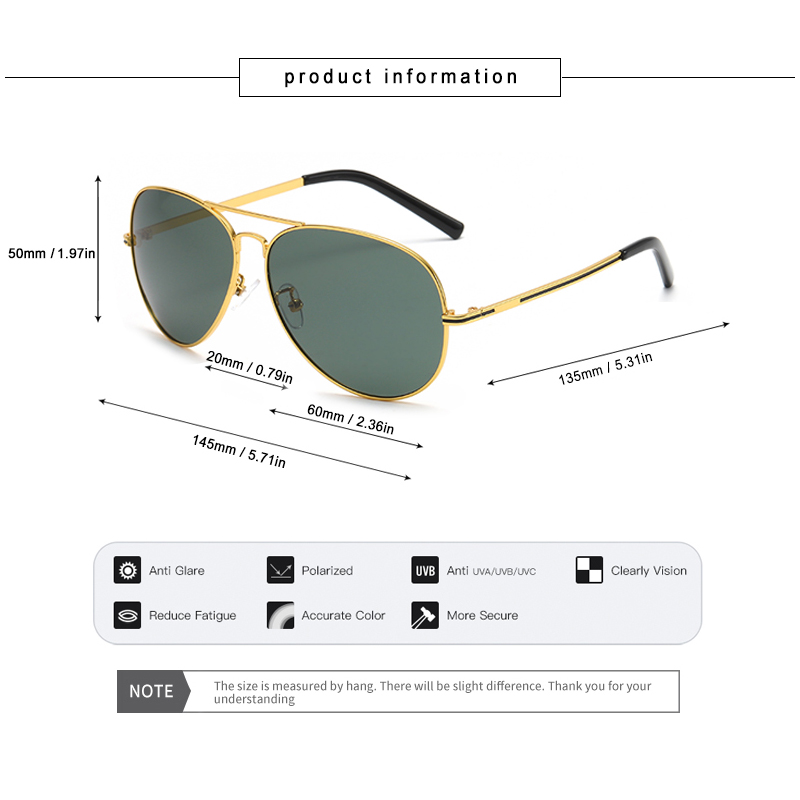 Blanche Michelle High Quality Pilot Frame Sunglasses Men Polarized UV400 Male Sun Glasses For Driving gafas de sol hombre Shades in Men 39 s Sunglasses from Apparel Accessories