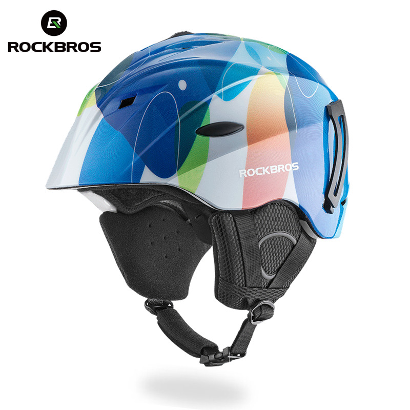 ROCKBROS Ultralight Skiing Helmets Integrally-molded Skating Ski Helmet Snowboard Skateboard Safety Fixed glasses Adult Men Wome professional ski helmet men women integrally molded skating snowboarding helmet roller skateboard sports skiing helmets