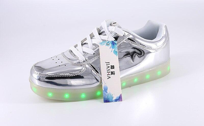Hot Sale Women Casual Shoes 2017 Breathable Lace Up Woman Led Luminous Shoes