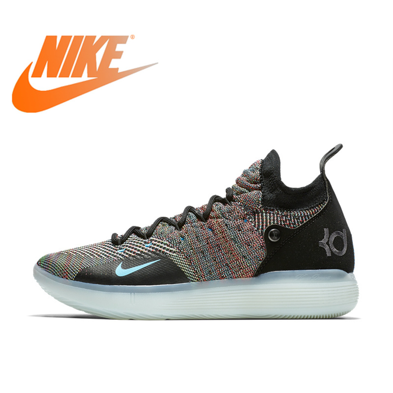 Original Authentic NIKE ZOOM KD11 EP Culture Men's Basketball Shoes Sport Outdoor Sneakers Low-top Breathable Mesh Rubber AO2605