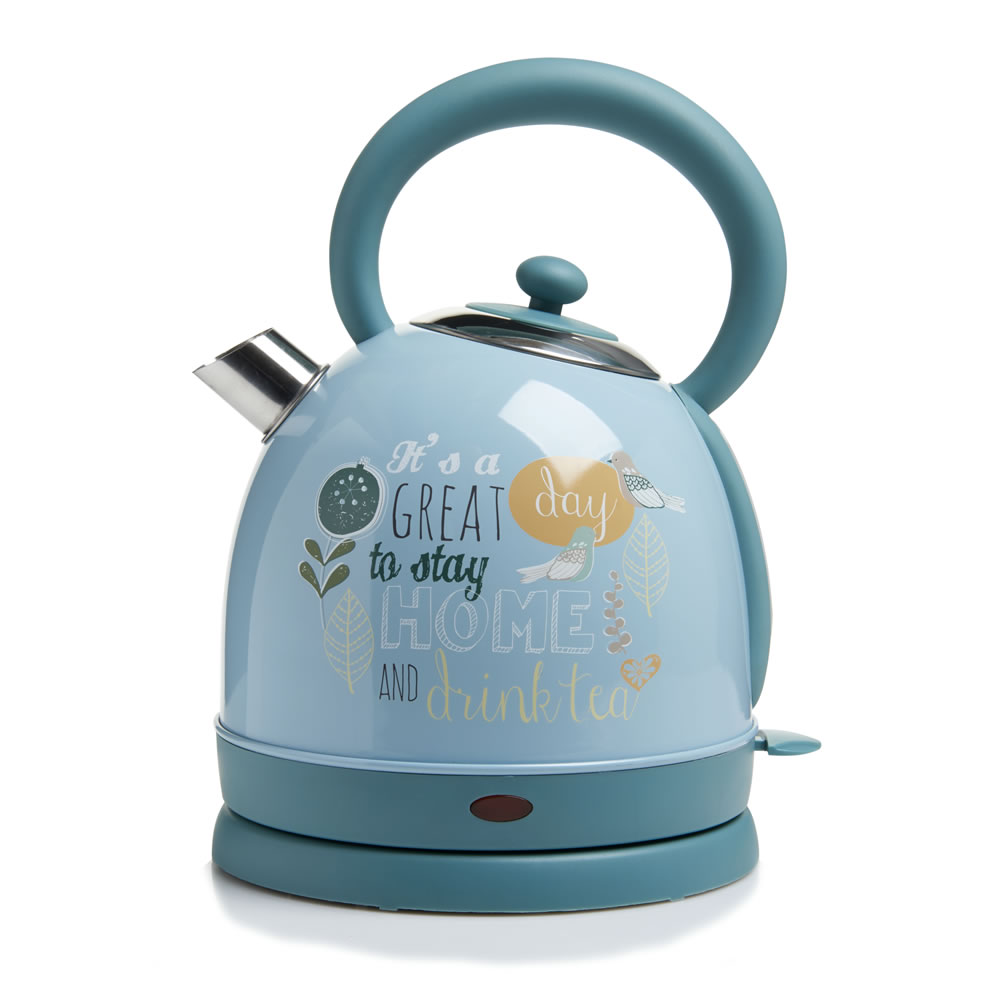Home 304 Stainless Steel Electric Water Kettle 1850W 220V Blue Cute Water Boiler Anti Scald Heat Preservation Water Pot water cooler tap water dispenser parts 304 stainless steel wireless electric bottled water pumping unit mineral water pump