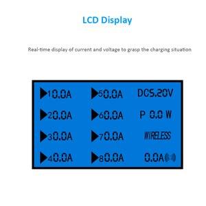 Image 3 - STOD bezprzewodowa ładowarka qi wyświetlacz LED stacja ładowania USB typ C telefon stojak na iphonea XR Samsung Huawei Mate 20 Pro Mi Adapter