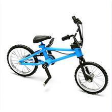 Mini Finger Bmx Játékok Mini Kerékpár Mountain Bike Fan Interest Játékok Gyűjtemények Decor With Brake Blue