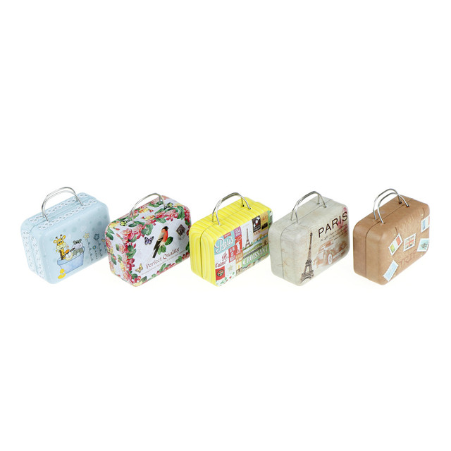 d997e982eeac US $1.42 16% OFF|Mini Vintage Luggage Shape Storage Tin Box Coin Bag  Jewelry Box Lovely Print Storage Box Girls Gifts 75*35*55MM-in Storage  Boxes & ...