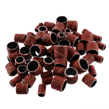 60pcs Drum Sanding Bands +3pcs 1/2 3/8 1/4 Mandrels Fit Nail Drill Band Sleeves Kit Sandpaper Rubber
